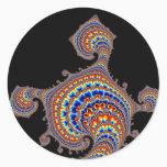 Dinozaur - Fractal Art Classic Round Sticker