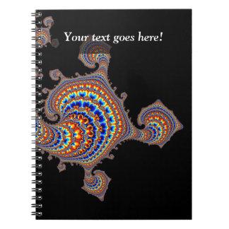 Dinozaur - Fractal Art Spiral Notebook