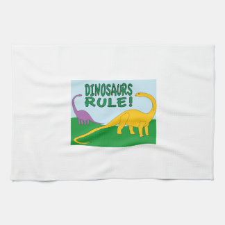 Dinsaurs Rule Hand Towels