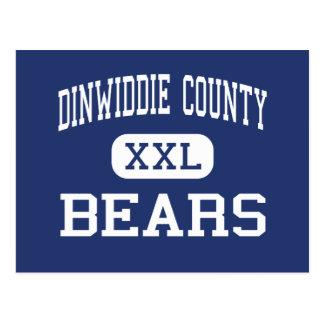 Dinwiddie County Bears Middle Dinwiddie Postcard
