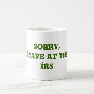 Dio en la taza de café del IRS