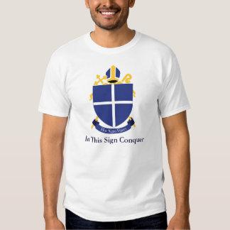 Diócesis de la cruz santa - camiseta para hombre playera