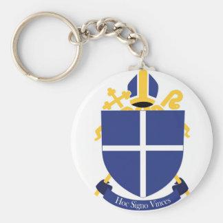 Diócesis de la cruz santa - llavero, imagen comple llavero redondo tipo pin