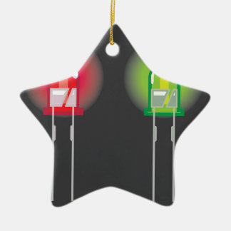 Diode Red and Green Ceramic Ornament