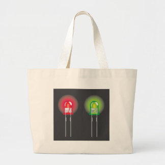 Diode Red and Green Large Tote Bag