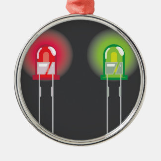 Diode Red and Green Metal Ornament