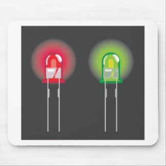 Diode Red and Green Mouse Pad