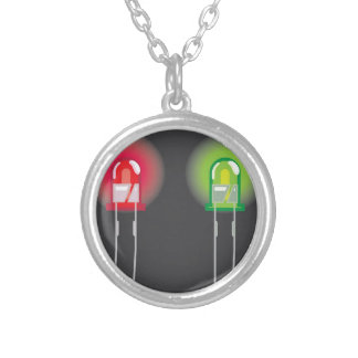 Diode Red and Green Round Pendant Necklace