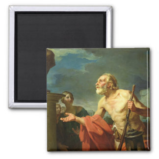 Diogenes Asking for Alms, 1767 2 Inch Square Magnet