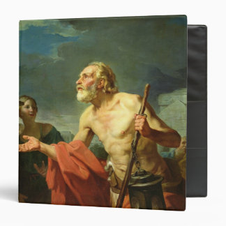 Diogenes Asking for Alms, 1767 3 Ring Binder