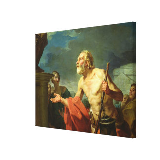 Diogenes Asking for Alms, 1767 Canvas Print