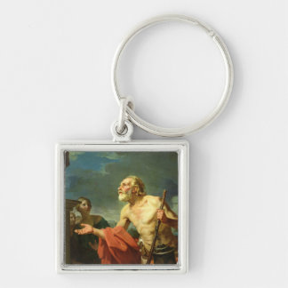 Diogenes Asking for Alms, 1767 Keychain