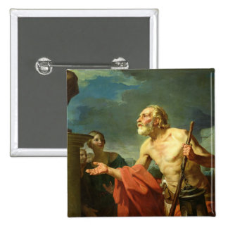 Diogenes Asking for Alms, 1767 Pinback Button