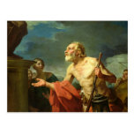 Diogenes Asking for Alms, 1767 Post Cards