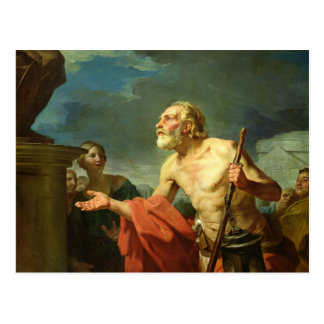 Diogenes Asking for Alms, 1767 Postcard