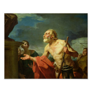 Diogenes Asking for Alms, 1767 Poster