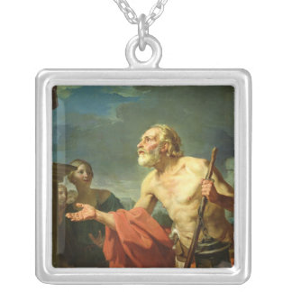 Diogenes Asking for Alms, 1767 Silver Plated Necklace