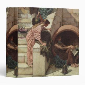 Diogenes by John William Waterhouse 3 Ring Binder