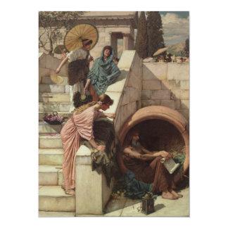 Diogenes by John William Waterhouse 5.5x7.5 Paper Invitation Card