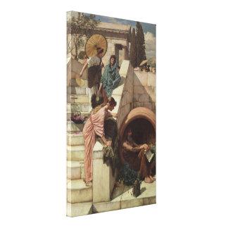 Diogenes by John William Waterhouse Canvas Print