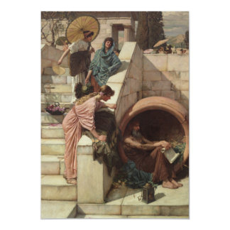 Diogenes by John William Waterhouse Card