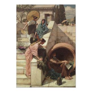 "Diogenes by John William Waterhouse 5"" X 7"" Invitation Card"