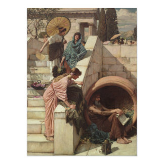 Diogenes by John William Waterhouse 6.5x8.75 Paper Invitation Card