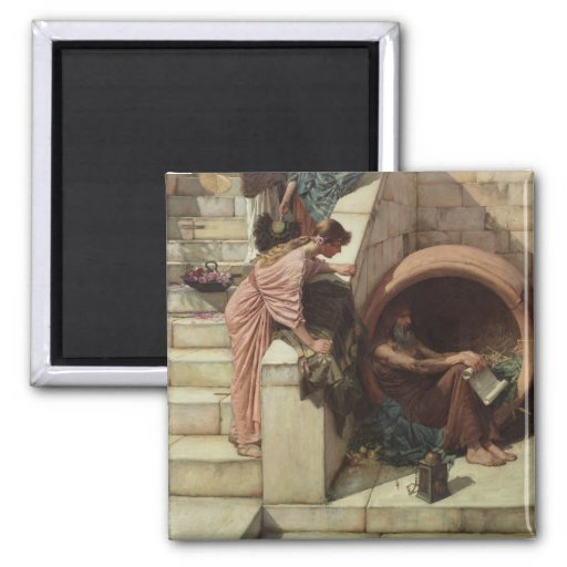 Diogenes by John William Waterhouse Refrigerator Magnets