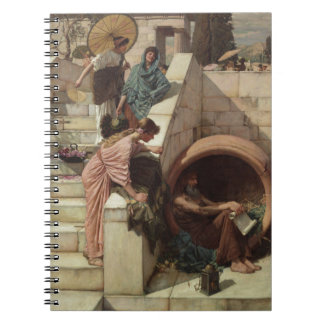 Diogenes by John William Waterhouse Spiral Notebook