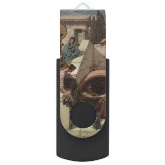 Diogenes by John William Waterhouse Swivel USB 2.0 Flash Drive