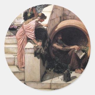 Diogenes Classic Round Sticker