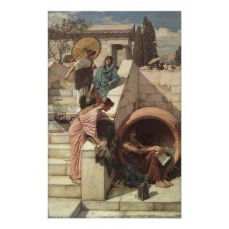 Diógenes de John William Waterhouse Impresion Fotografica