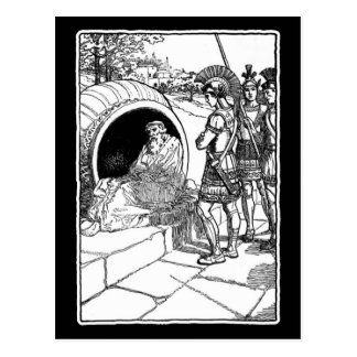 Diogenes of Sinope Postcard