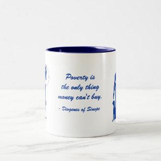 Diogenes Poverty (3) Two-Tone Coffee Mug