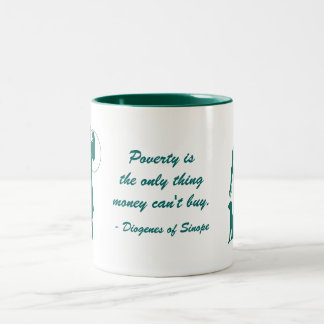 Diogenes Poverty Two-Tone Coffee Mug
