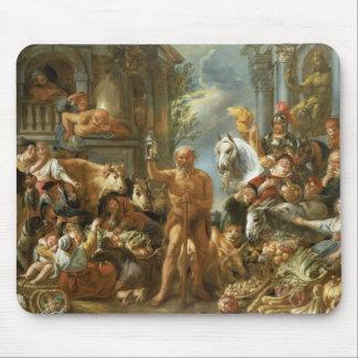 Diógenes que busca para un hombre honesto, c.1650- tapete de ratón