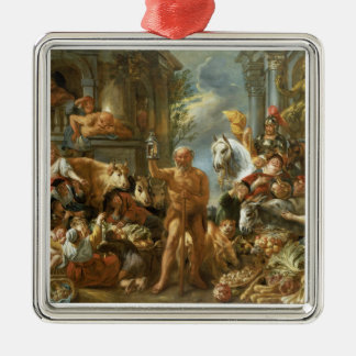 Diogenes Searching for an Honest Man, c.1650-55 (o Metal Ornament