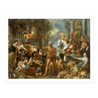 Diogenes Searching for an Honest Man, c.1650-55 (o Postcard
