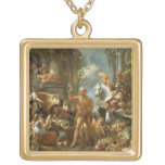 Diogenes Searching for an Honest Man, c.1650-55 (o Square Pendant Necklace