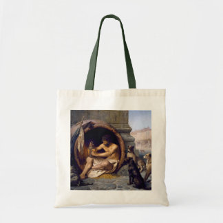 Diogenes Surrounded by Dogs - by Jean Leon Gerome Canvas Bag