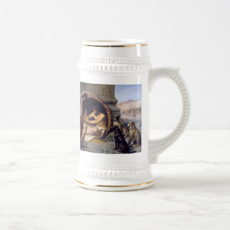 Diogenes Surrounded by Dogs - by Jean Leon Gerome Beer Stein