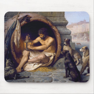 Diogenes Surrounded by Dogs - by Jean Leon Gerome Mouse Pad