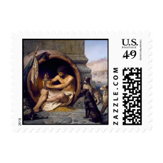 Diogenes Surrounded by Dogs - by Jean Leon Gerome Stamps