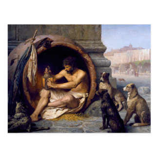 Diogenes Surrounded by Dogs - by Jean Leon Gerome Postcard