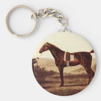 Diomed de George Stubbs Llavero Redondo Tipo Pin
