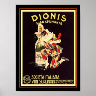 Dionis Gran Spumante Vintage Ad Poster 12 x 16