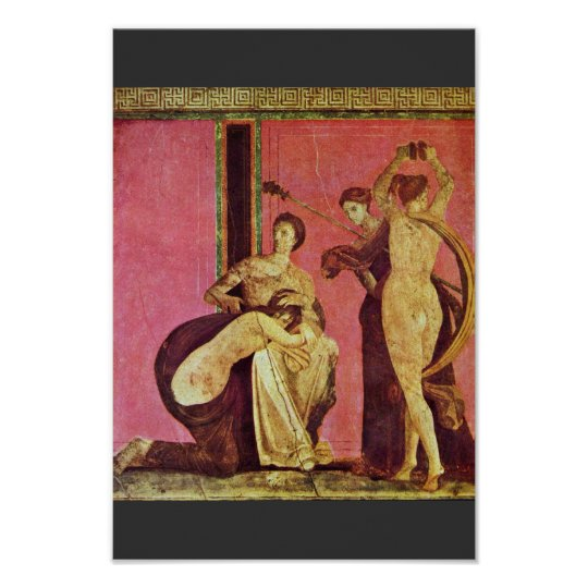 Dionysiac Frieze With Whipped Girls And Bacchante Poster