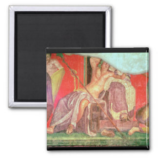 Dionysian Entourage with Dionysus 2 Inch Square Magnet