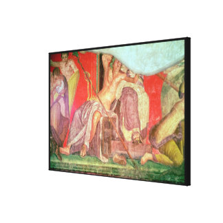 Dionysian Entourage with Dionysus Canvas Print