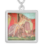Dionysian Entourage with Dionysus Square Pendant Necklace